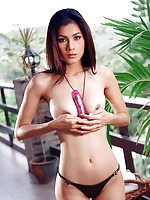 Busty Natt Chanapa Rooftop Masturbation