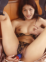South East Asian Jenny opens her dripping wet Thai pussy