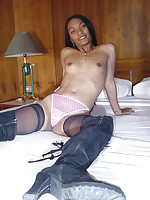 Slim dark skin Thai girl One fucked by her boyfriend