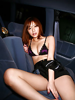 Sexy asian cop looks very naughty in her shorts and lingerie
