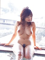 Luscious gravure idol with large nipples and big round melons