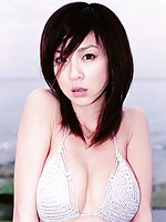 Aki Hoshino petite Japanese girl with nice big breasts