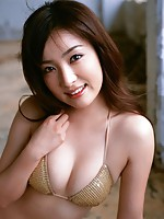 Beautiful busty gravure idol babe entices in her lacey lingerie