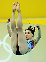 Pretty Chinese Olympics diver pictures taken with special camera