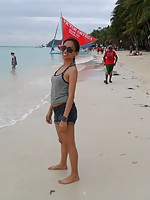 Filipina girlfriends love Boracay beach