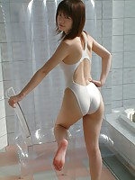 Asian in Shower