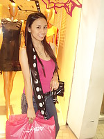 Filipina girlfriend looks very fashionable and outgoing