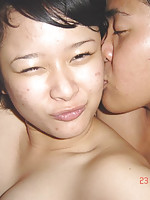 Horny Asian couples making their own sex pictures