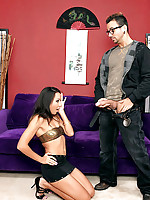 Hot ass fucking asian gets fucked hard in her pussy by her computer nerd in these hot mini skirt office fucking pics