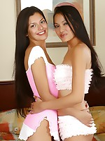 Two very hot Asian girls having steamy lesbian action