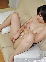 Japanese MILF with cum filled pussy