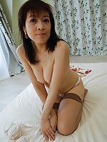 Japanese granny wants cum in her hairy pussy