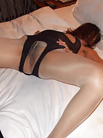 Korean chick with kinky looking lingerie