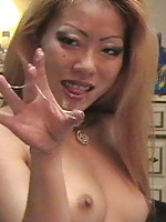 Hot asian Jade give head and gets a facial!