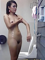 Sexy Thai girl May undresses and gets into the shower