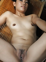 Petite Mica flashes the most intimate parts of her sexy young body