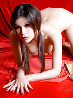 Thai Mary-Anne squeezing her breasts