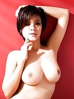 Thai girl Roxie posing her big breasts