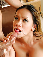 Mika Kani getting facial cumshot