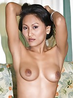 Natural tits on Thai babe Rowena