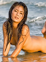 Thai Maria naked in the sea