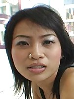 Thai cutie suck and fuck action ends in cum filled pussy