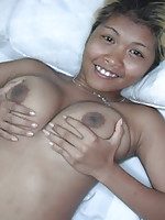 Big tit Thai chick sucks some cock and gets a pussy full of cum