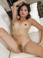 Super sexy Julia strips from her school uniform to show her nubile pussy