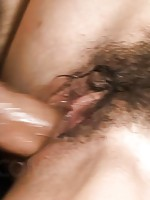 Mio Hiragi Asian licks phallus that fucks her hairy fish taco