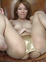 Rei Asian gets sex toys in cunt and on big tits before sucking