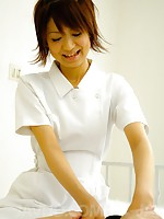 Miriya Hazuki Asian nurse sucks and licks cock til gets sperm