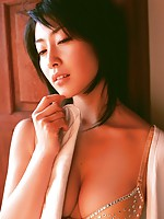 Incredible Hiroko Sato looks beautiful in her lace lingerie