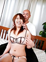 Ai Ootomo Asian has dildo in asshole and clit rubbed same time