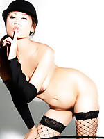 Thai girl Ann in hot black lingerie