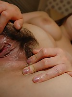 Mature Japanese Yuriko Hoshino sucking a hard cock before taking it inside her wet pussy.