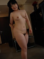 Chubby MILF Japanese Naomi Okumura recieves a warm load of cum inside her pussy.