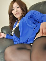 MILF Japanese Tomoka Kuroki sucking a hard cock before she slides it inside her mature pussy.