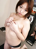 Horny Japanese MILF Rika Okabe getting fuck on a warm bed.