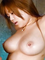 Nene Azami Asian gets dong on big boobs and in hot cum dumpster
