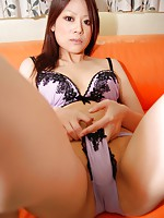 Teen Japanese babe Mayu Matsukawa gets her pussy drilled before she receives a warm load of cum.