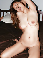 Drunk big titty Thai milf bargirl Ree naked in bed