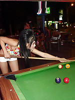 Pattaya beer bar allstar with big hair fucked and candids