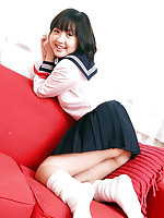 Jun Ishizaki Asian is sexy and playful in sailor girl uniform