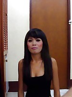 Incredibly hot petite Thai babe Fai strips down to do a hot fuck video