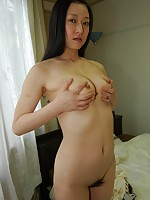 Mature Japanese babe Manami Osaki gives her man a nice blowjob before riding her cock.