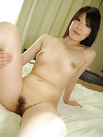 Teen Japanese babe Mako Ikegami gets her pussy penetrated with sex toys and hard dick.