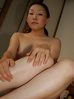 Mature Japanese woman Yukie Ishikawa pleasures a dick with her mouth and wet pussy.