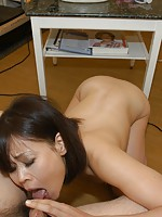 Mature Japane babe Yukari Yamagishi enjoys sex toys and a hard cock penetrating her pussy.