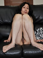 Japanese granny Nobue Toyoshima having fun getting her body pleasured with toys before hard cock slides in.