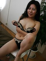 Japanese MILF Natsuki Date moans in joy as sex toys and cock penetrates her hairy pussy.